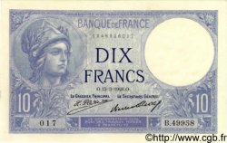 10 Francs MINERVE FRANCE  1928 F.06.13 SPL