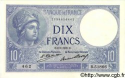 10 Francs MINERVE FRANCE  1928 F.06.13 SPL+