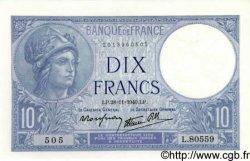 10 Francs MINERVE modifié FRANCE  1940 F.07.22 SPL+