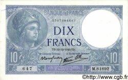 10 Francs MINERVE modifié FRANCE  1940 F.07.24 NEUF