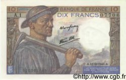 10 Francs MINEUR FRANCE  1941 F.08.01 SPL