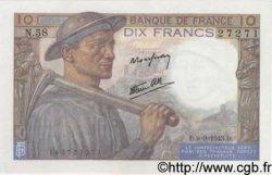 10 Francs MINEUR FRANCE  1943 F.08.09 SPL