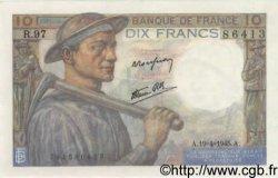 10 Francs MINEUR FRANCE  1945 F.08.13 pr.SPL
