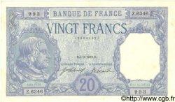 20 Francs BAYARD FRANCE  1919 F.11.04 pr.NEUF