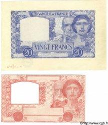 20 Francs SCIENCE ET TRAVAIL FRANCE  1941 F.12.- SPL