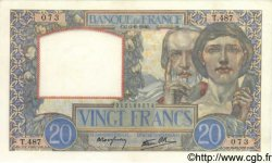20 Francs SCIENCE ET TRAVAIL FRANCE  1940 F.12.03 SPL