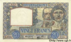 20 Francs SCIENCE ET TRAVAIL FRANCE  1940 F.12.10 pr.NEUF