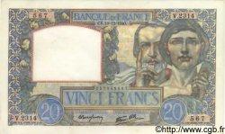 20 Francs SCIENCE ET TRAVAIL FRANCE  1940 F.12.11 pr.NEUF