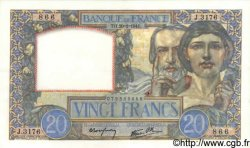 20 Francs SCIENCE ET TRAVAIL FRANCE  1941 F.12.12 pr.SPL