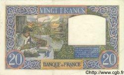 20 Francs SCIENCE ET TRAVAIL FRANCE  1941 F.12.14 SUP