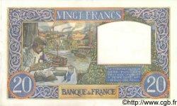 20 Francs SCIENCE ET TRAVAIL FRANCE  1941 F.12.15 SPL