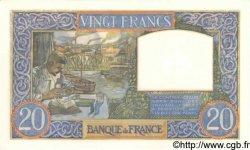 20 Francs SCIENCE ET TRAVAIL FRANCE  1941 F.12.16 SPL+