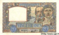 20 Francs SCIENCE ET TRAVAIL FRANCE  1941 F.12.16 pr.NEUF