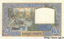 20 Francs SCIENCE ET TRAVAIL FRANCE  1941 F.12.18 NEUF