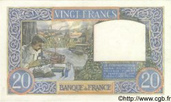 20 Francs SCIENCE ET TRAVAIL FRANCE  1941 F.12.19 SPL