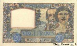 20 Francs SCIENCE ET TRAVAIL FRANCE  1942 F.12.21 SUP+