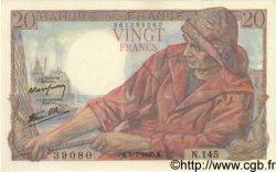 20 Francs PÊCHEUR FRANCE  1945 F.13.10 NEUF