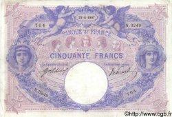 50 Francs BLEU ET ROSE FRANCE  1907 F.14.20 TB