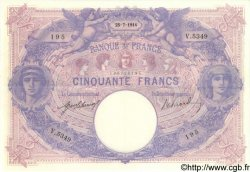 50 Francs BLEU ET ROSE FRANCE  1914 F.14.27 SUP
