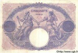 50 Francs BLEU ET ROSE FRANCE  1918 F.14.31 SUP