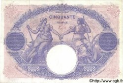 50 Francs BLEU ET ROSE FRANCE  1918 F.14.31 TTB+