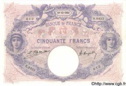 50 Francs BLEU ET ROSE FRANCE  1922 F.14.35 SUP