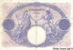 50 Francs BLEU ET ROSE FRANCE  1924 F.14.37 pr.TTB