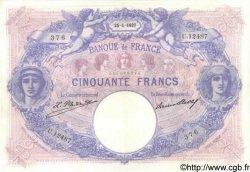 50 Francs BLEU ET ROSE FRANCE  1927 F.14.40 TTB+