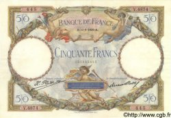 50 Francs LUC OLIVIER MERSON FRANCE  1929 F.15.03 SUP