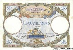 50 Francs LUC OLIVIER MERSON type modifié FRANCE  1934 F.16.05 SUP
