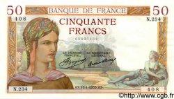 50 Francs CÉRÈS FRANCE  1935 F.17.03 pr.NEUF