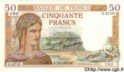50 Francs CÉRÈS FRANCE  1936 F.17.28 pr.NEUF