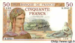 50 Francs CÉRÈS FRANCE  1937 F.17.36 pr.NEUF