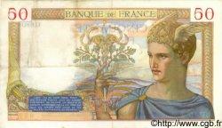 50 Francs CÉRÈS modifié FRANCE  1937 F.18.02 TTB+
