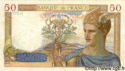 50 Francs CÉRÈS modifié FRANCE  1937 F.18.03 TTB+