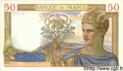 50 Francs CÉRÈS modifié FRANCE  1939 F.18.27 SUP+