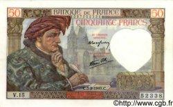 50 Francs JACQUES CŒUR FRANCE  1940 F.19.02 SPL