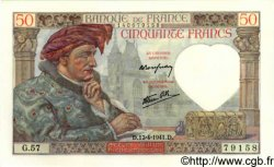 50 Francs JACQUES CŒUR FRANCE  1941 F.19.08 NEUF