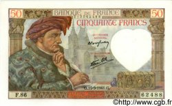 50 Francs JACQUES CŒUR FRANCE  1941 F.19.11 pr.NEUF