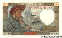 50 Francs JACQUES CŒUR FRANCE  1941 F.19.17 NEUF