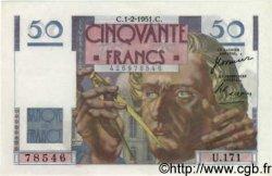 50 Francs LE VERRIER FRANCE  1951 F.20.17 SPL+