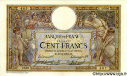 100 Francs LUC OLIVIER MERSON sans LOM FRANCE  1915 F.23.07 SUP