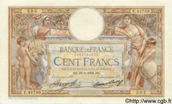 100 Francs LUC OLIVIER MERSON grands cartouches FRANCE  1934 F.24.13 pr.SUP
