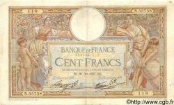 100 Francs LUC OLIVIER MERSON type modifié FRANCE  1937 F.25.03 F