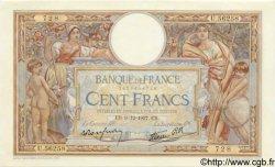 100 Francs LUC OLIVIER MERSON type modifié FRANCE  1937 F.25.05 pr.SPL