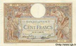 100 Francs LUC OLIVIER MERSON type modifié FRANCE  1938 F.25.09 SUP
