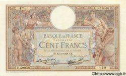 100 Francs LUC OLIVIER MERSON type modifié FRANCE  1938 F.25.18 SUP+ à SPL
