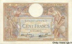 100 Francs LUC OLIVIER MERSON type modifié FRANCE  1938 F.25.28 SPL