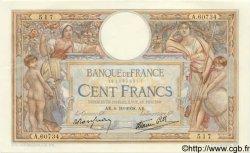 100 Francs LUC OLIVIER MERSON type modifié FRANCE  1938 F.25.30 pr.SPL