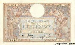 100 Francs LUC OLIVIER MERSON type modifié FRANCE  1938 F.25.32 TTB+